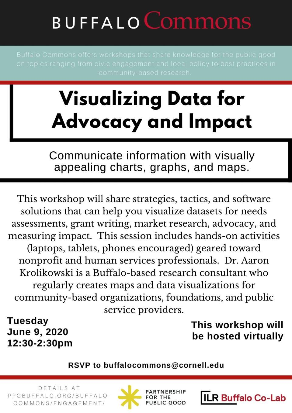 Buffalo Commons Virtual Workshop: Visualizing Data for Advocacy and Impact