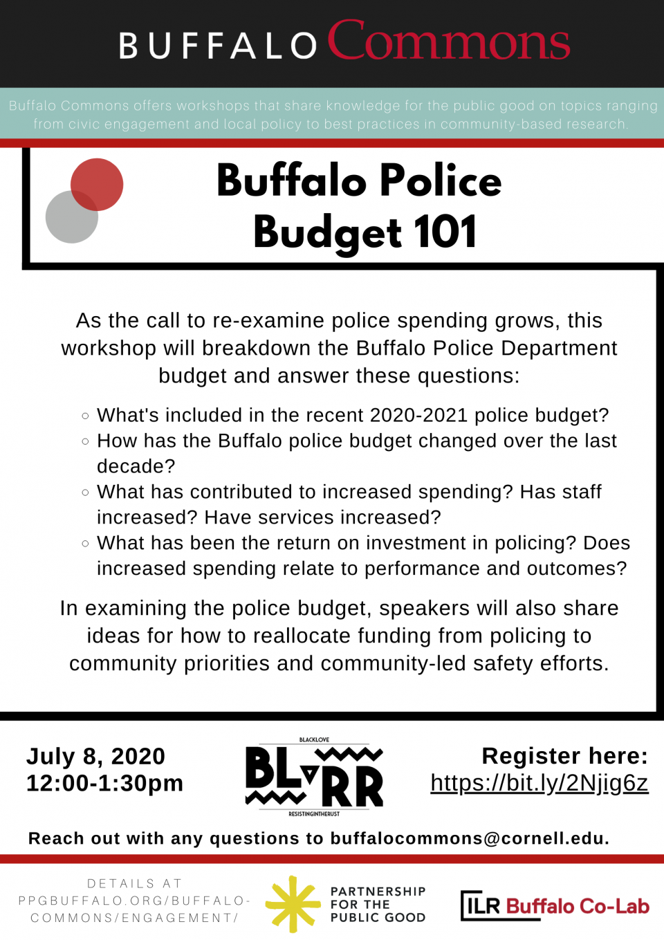 Workshop: Buffalo Police Budget 101