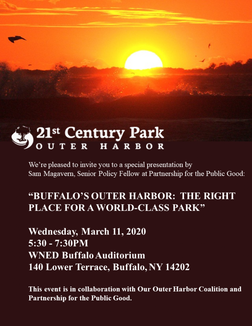 POSTPONED - Buffalo's Outer Harbor: The Right Place for a World-Class Park