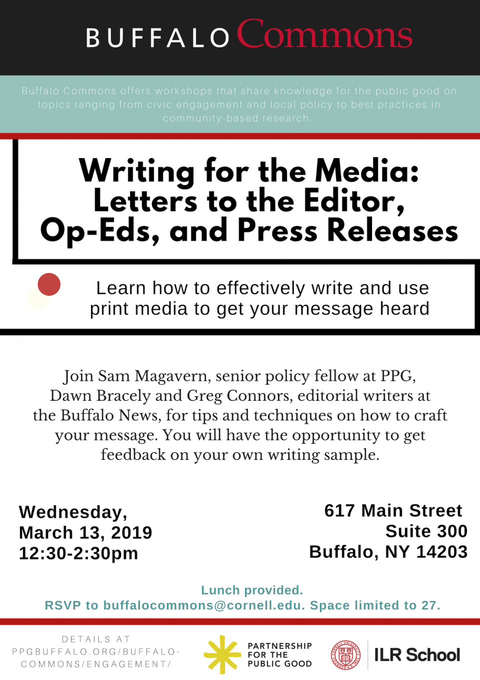 Writing for the Media: Letters to the Editor, Op-Eds, and Press Releases
