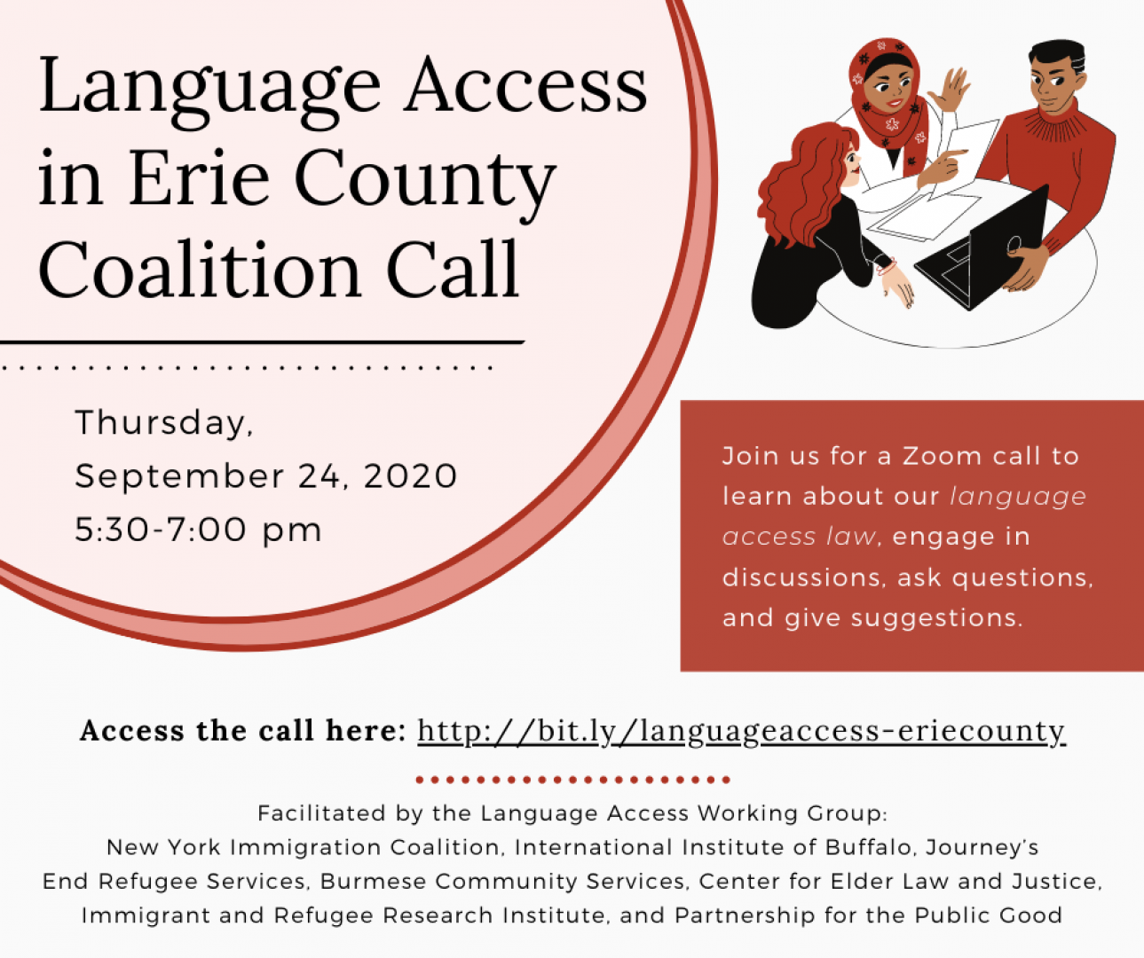 Language Access in Erie County Coalition Call