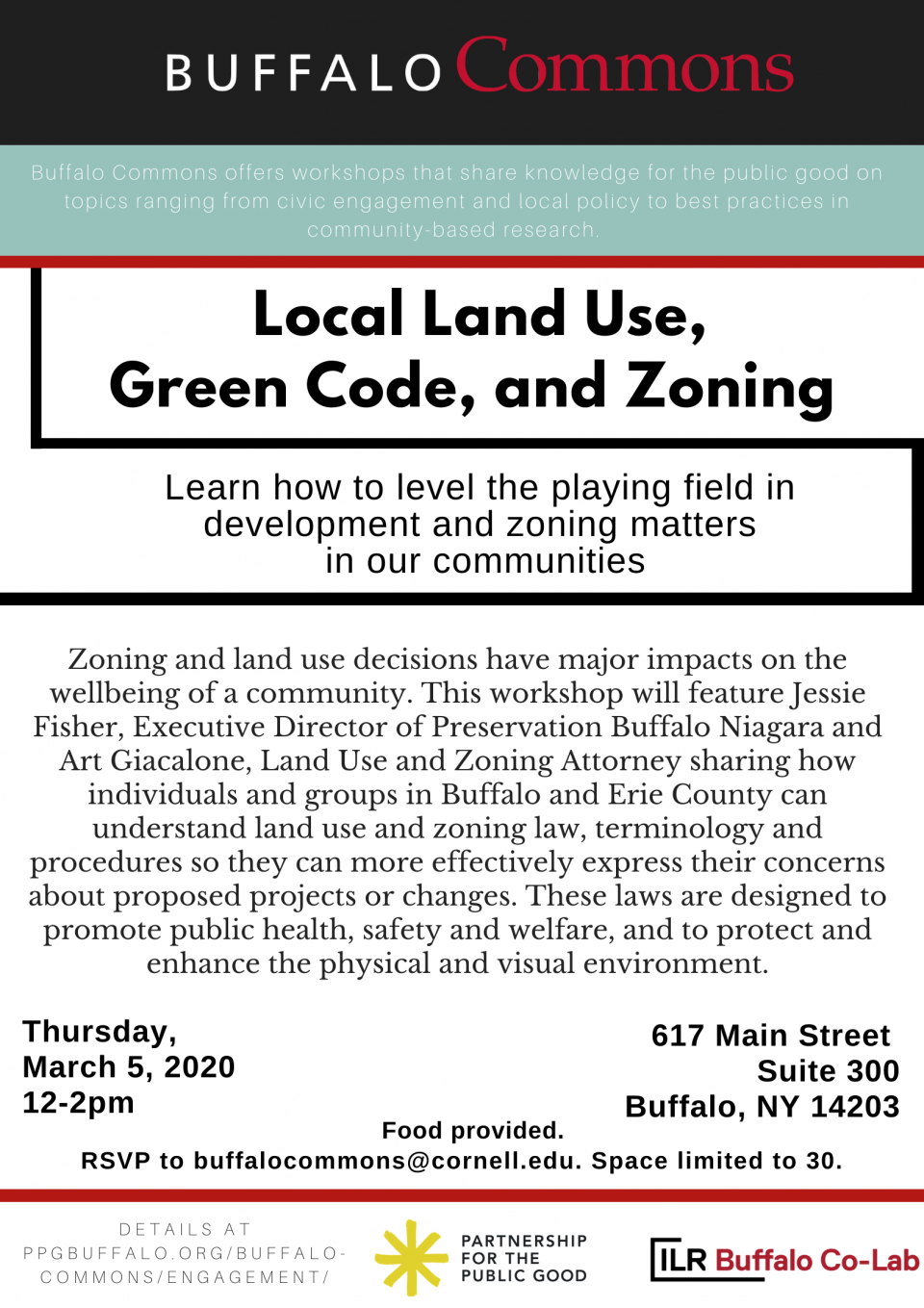 Buffalo Commons Workshop: Local Land Use, Green Code, and Zoning