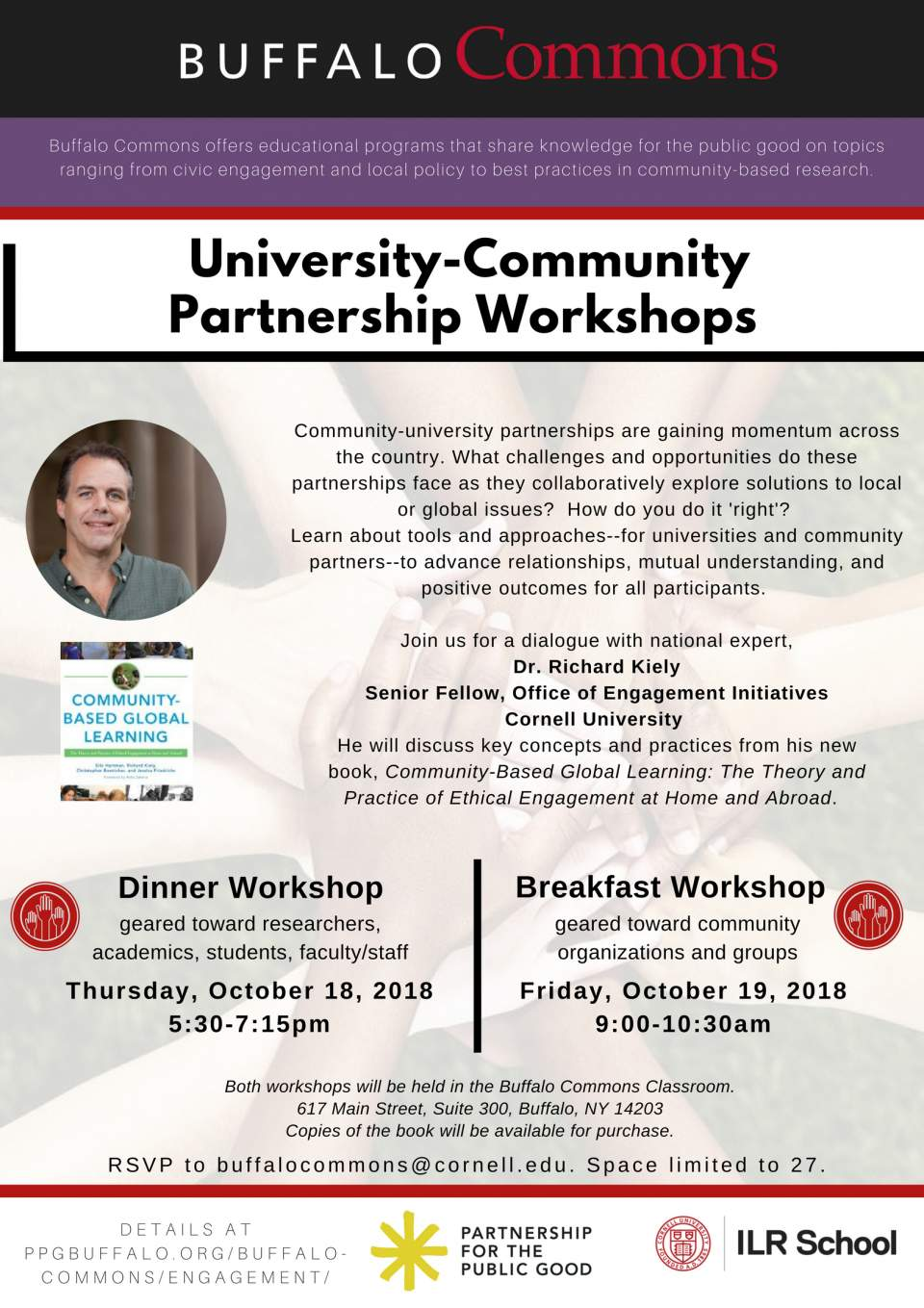 University-Community Partnership Workshop (Dinner)