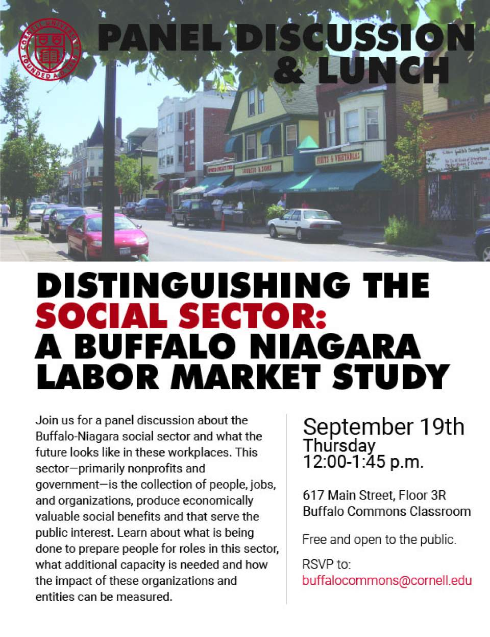 Distinguishing the Social Sector: Panel Discussion and Lunch