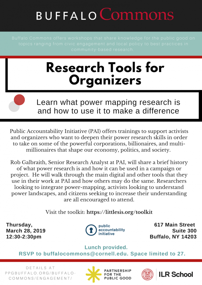 Research Tools for Organizers